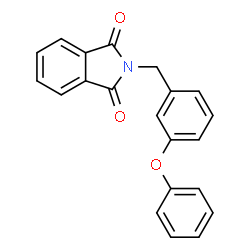 ChemSpider 2D Image | 2-(3-Phenoxybenzyl)-1H-isoindole-1,3(2H)-dione | C21H15NO3