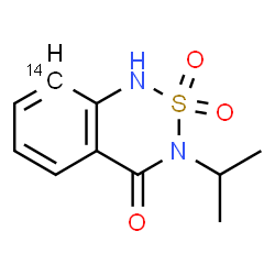 ChemSpider 2D Image | 3-Isopropyl(8-~14~C)-1H-2,1,3-benzothiadiazin-4(3H)-one 2,2-dioxide | C914CH12N2O3S