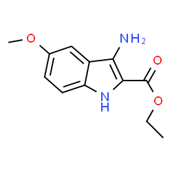ChemSpider 2D Image | Ethyl 3-amino-5-methoxy-1H-indole-2-carboxylate | C12H14N2O3