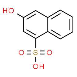 ChemSpider 2D Image | 3-Hydroxy-1-naphthalenesulfonic acid | C10H8O4S
