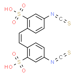ChemSpider 2D Image | (Z)-4,4'-diisothiocyanato-2,2'-stilbenedisulfonic acid | C16H10N2O6S4