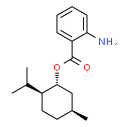 ChemSpider 2D Image | (1R,2S,5S)-2-Isopropyl-5-methylcyclohexyl 2-aminobenzoate | C17H25NO2