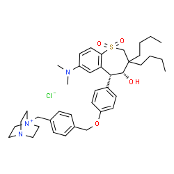 ChemSpider 2D Image | maralixibat chloride | C40H56ClN3O4S
