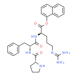 ChemSpider 2D Image | 1-Naphthyl D-prolyl-D-phenylalanyl-N~5~-(diaminomethylene)-D-ornithinate | C30H36N6O4