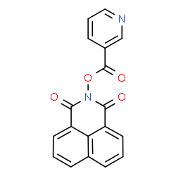 ChemSpider 2D Image | 2-[(3-Pyridinylcarbonyl)oxy]-1H-benzo[de]isoquinoline-1,3(2H)-dione | C18H10N2O4