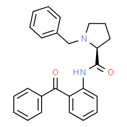 ChemSpider 2D Image | N-(2-Benzoylphenyl)-1-benzyl-L-prolinamide | C25H24N2O2
