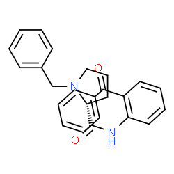 ChemSpider 2D Image | N-(2-Benzoylphenyl)-1-benzyl-D-prolinamide | C25H24N2O2