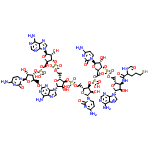 ChemSpider 2D Image | (2R,3S,4R,5R)-5-(4-Amino-2-oxo-1(2H)-pyrimidinyl)-2-({[{[(2R,3S,4R,5R)-5-(4-amino-2-oxo-1(2H)-pyrimidinyl)-2-({[{[(2R,3S,4R,5R)-2-({[{[(2R,3S,4R,5R)-2-({[{[(2R,3S,4R,5R)-5-(4-amino-2-oxo-1(2H)-pyrimid inyl)-4-hydroxy-2-(hydroxymethyl)tetrahydro-3-furanyl]oxy}(hydroxy)phosphoryl]oxy}methyl)-5-(6-amino-9H-purin-9-yl)-4-hydroxytetrahydro-3-furanyl]oxy}(hydroxy)phosphoryl]oxy}methyl)-5-(6-amino-9H-puri n-9-yl)-4-hydroxytetrahydro-3-furanyl]oxy}(hydroxy)phosphoryl]oxy}methyl)-4-hydroxytetrahydro-3-furanyl]oxy}(hydroxy)phosphoryl]oxy}methyl)-4-hydroxytetrahydro-3-furanyl {(2S,3S,4R,5R)-5-(6-amino-9H-p urin-9-yl)-3-[(2-formamido-5-sulfanylpentanoyl)amino]-4-hydroxytetrahydro-2-furanyl}methyl hydrogen phosphate (non-preferred name) | C63H83N26O38P5S