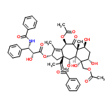 ChemSpider 2D Image | (2S,3aS,4S,4aR,5S,6S,8S,8aS,10R)-10-Acetoxy-5-(acetoxymethyl)-2-{[(2R,3S)-3-(benzoylamino)-2-hydroxy-3-phenylpropanoyl]oxy}-5,6,8-trihydroxy-3a-isopropenyl-1,8a-dimethyl-9-oxo-2,3,3a,4,4a,5,6,7,8,8a,9