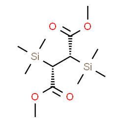 ChemSpider 2D Image | Dimethyl (2S,3S)-2,3-bis(trimethylsilyl)succinate | C12H26O4Si2