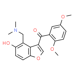 ChemSpider 2D Image | (2,5-Dimethoxyphenyl){4-[(dimethylamino)methyl]-5-hydroxy-1-benzofuran-3-yl}methanone | C20H21NO5