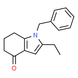 ChemSpider 2D Image | 1-Benzyl-2-ethyl-1,5,6,7-tetrahydro-4H-indol-4-one | C17H19NO