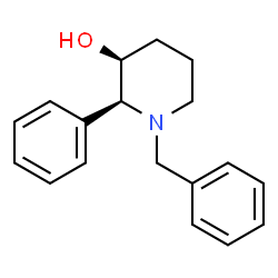 ChemSpider 2D Image | (2S,3S)-1-Benzyl-2-phenyl-3-piperidinol | C18H21NO