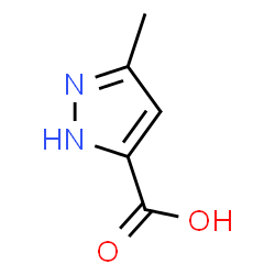 ChemSpider 2D Image | 5-Methylpyrazole-3-carboxylic acid | C5H6N2O2