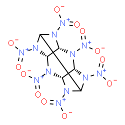 ChemSpider 2D Image | (3R,5S,9R,11S)-2,4,6,8,10,12-Hexanitro-2,4,6,8,10,12-hexaazatetracyclo[5.5.0.0~3,11~.0~5,9~]dodecane | C6H6N12O12