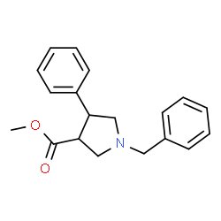 ChemSpider 2D Image | Methyl 1-benzyl-4-phenyl-3-pyrrolidinecarboxylate | C19H21NO2