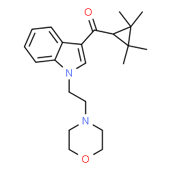 ChemSpider 2D Image | (1-(2-morpholin-4-yl-ethyl)-1H-indol-3-yl)-(2,2,3,3-tetramethylcyclopropyl)methanone | C22H30N2O2