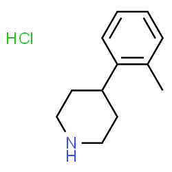 ChemSpider 2D Image | 4-(2-Methylphenyl)piperidine hydrochloride | C12H18ClN