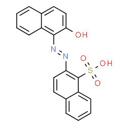 ChemSpider 2D Image | 2-((2-Hydroxy-1-naphthyl)azo)naphthalenesulphonic acid | C20H14N2O4S