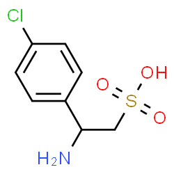 ChemSpider 2D Image | 2-Amino-2-(4-chlorophenyl)ethanesulfonic acid | C8H10ClNO3S