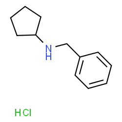 ChemSpider 2D Image | N-Benzylcyclopentanamine hydrochloride (1:1) | C12H18ClN