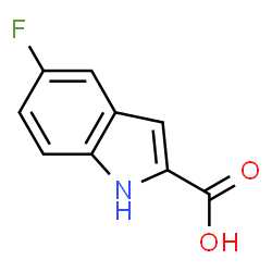 ChemSpider 2D Image | 5-Fluoroindole-2-carboxylic acid | C9H6FNO2