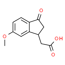 ChemSpider 2D Image | 5-METHOXY-1-INDANONE-3-ACETIC ACID | C12H12O4