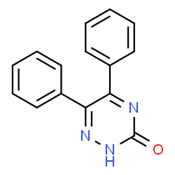 ChemSpider 2D Image | 5,6-Diphenyl-1,2,4-triazin-3(2H)-one | C15H11N3O