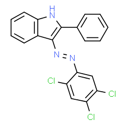 ChemSpider 2D Image | 2-Phenyl-3-((2,4,5-trichlorophenyl)azo)indole | C20H12Cl3N3
