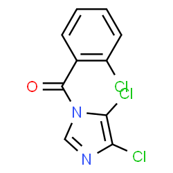 ChemSpider 2D Image | (2-Chlorophenyl)(4,5-dichloro-1H-imidazol-1-yl)methanone | C10H5Cl3N2O