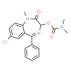 ChemSpider 2D Image | 7-Chloro-1-methyl-2-oxo-5-phenyl-2,3-dihydro-1H-1,4-benzodiazepin-3-yl dimethylcarbamate | C19H18ClN3O3