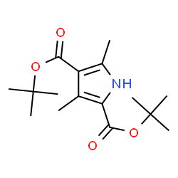 ChemSpider 2D Image | Di-tert-butyl 3,5-dimethyl-1H-pyrrole-2,4-dicarboxylate | C16H25NO4