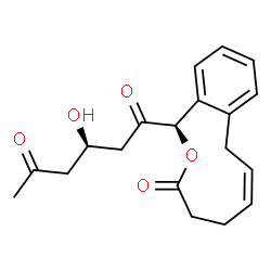 ChemSpider 2D Image | (3R)-3-Hydroxy-1-[(1R,6Z)-3-oxo-3,4,5,8-tetrahydro-1H-2-benzoxecin-1-yl]-1,5-hexanedione | C19H22O5