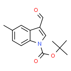 ChemSpider 2D Image | tert-Butyl 3-formyl-5-methyl-1H-indole-1-carboxylate | C15H17NO3