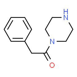 ChemSpider 2D Image | 1-(phenylacetyl)piperazine | C12H16N2O