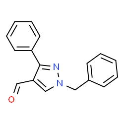 ChemSpider 2D Image | 1-Benzyl-3-phenyl-1H-pyrazole-4-carbaldehyde | C17H14N2O