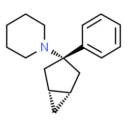 ChemSpider 2D Image | 1-[(1R,3r,5S)-3-Phenylbicyclo[3.1.0]hex-3-yl]piperidine | C17H23N