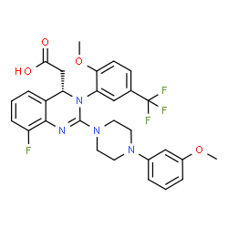 ChemSpider 2D Image | Letermovir | C29H28F4N4O4
