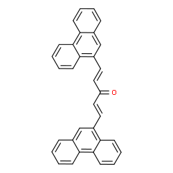ChemSpider 2D Image | (1E,4E)-1,5-Di(9-phenanthryl)-1,4-pentadien-3-one | C33H22O