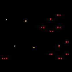 ChemSpider 2D Image | canagliflozin hemihydrate | C48H52F2O11S2