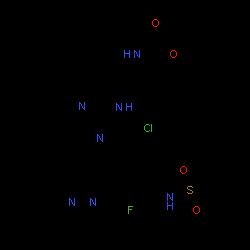ChemSpider 2D Image | Encorafenib | C22H27ClFN7O4S