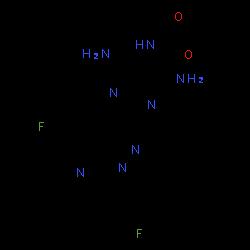 ChemSpider 2D Image | Vericiguat | C19H16F2N8O2