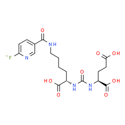 ChemSpider 2D Image | N-{[(1S)-1-Carboxy-5-({[6-(~18~F)fluoro-3-pyridinyl]carbonyl}amino)pentyl]carbamoyl}-L-glutamic acid | C18H2318FN4O8