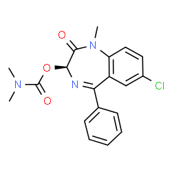ChemSpider 2D Image | (3S)-7-Chloro-1-methyl-2-oxo-5-phenyl-2,3-dihydro-1H-1,4-benzodiazepin-3-yl dimethylcarbamate | C19H18ClN3O3