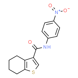 ChemSpider 2D Image | N-(4-Nitrophenyl)-4,5,6,7-tetrahydro-1-benzothiophene-3-carboxamide | C15H14N2O3S