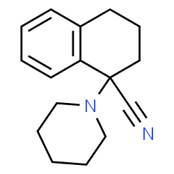 ChemSpider 2D Image | 1-(1-Piperidinyl)-1,2,3,4-tetrahydro-1-naphthalenecarbonitrile | C16H20N2
