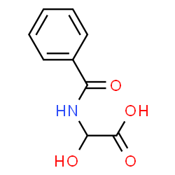 ChemSpider 2D Image | a-Hydroxyhippuric acid | C9H9NO4