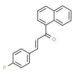 ChemSpider 2D Image | (2E)-3-(4-Fluorophenyl)-1-(1-naphthyl)-2-propen-1-one | C19H13FO