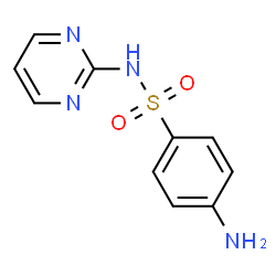 ChemSpider 2D Image | Sulfadiazine | C10H10N4O2S