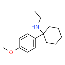 ChemSpider 2D Image | N-Ethyl-1-(4-methoxyphenyl)cyclohexanamine | C15H23NO